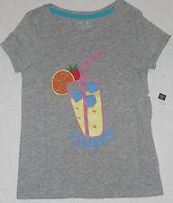 GAP Kids Girl's Gray SWEET Short Sleeve Tee Shirt Size S (6-7)