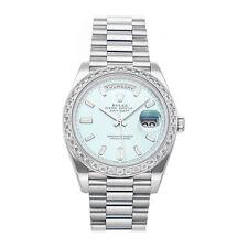 Rolex Day-Date Platinum Auto 40mm President Bracelet Mens Watch 228396TBR