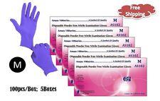 AMASS® Nitrile Powder Free Exam Gloves - MEDIUM, Chemo Tested, 4 mil  500pcs
