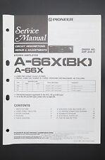 PIONEER A-66X (BK)/A-66X Original Service-Manual/Anleitung/Schaltplan! o41