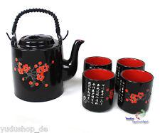 5 piezas teeseservice Set Juego de té Tetera + 4 tazas Hermoso Motivo