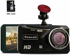 Peacall 4 Inch IPS Screen Dash Cam, Extra USB Charging Port for Phone and Other