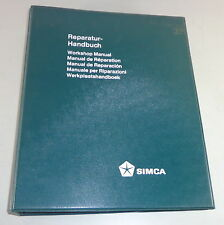 Officina Manuale/Workshop Manual SIMCA 1100 STAND 06/1971