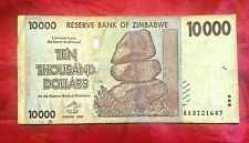 1x ZIMBABWE 10000 DOLLAR BANKNOTE EXTREMELY RARE LOW GRADE USED CIRCULATED 1only