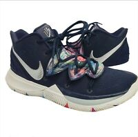 Nike Kyrie 5 Multi-color Galaxy Navy Blue Mens Size 9.5 Shoes A02918 900 B-Ball