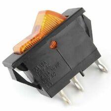 1 PC Swan Rocker Switch, Orange, Lighted, 15 Amp, 125VAC, SPST, On/Off