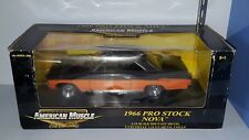 1/18 ERTL 1966 CHEVROLET NOVA PRO STOCK BLACK & ORANGE yd