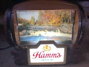 Vintage Hamms Beer lamp