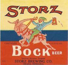 Storz Bock Beer Label, IRTP, Storz Brewing Co., Omaha, NE