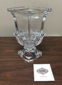 "Shannon Crystal Deco Crystal Vase 9 1/2"" Tall"