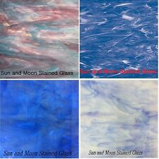 BLUE Spectrum Stained Glass Pack (4 Sheets of 8X10) - Stained Glass Sheets