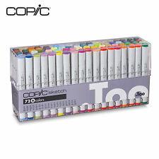 Copic Sketch Marker 72 Color Set A,B, C, D, E Premium Artist Markers
