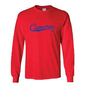 Camaro 72 Tail 1972 Script Classic Muscle Car Long Sleeve All Colors