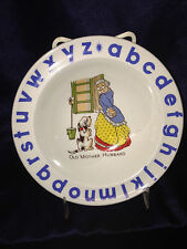 """WOOD & SONS WOO156 CHILD'S BOWL 6 1/2"""" OLD MOTHER HUBBARD ALPHABET"""