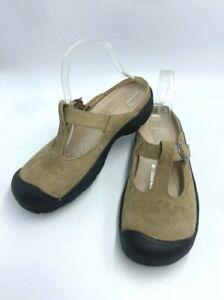 Keen Womens 8 Petaluma Clog Shoes Shitake Tan Floral Leather