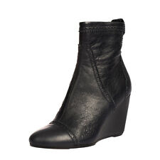 RRP €930 BALENCIAGA Leather Ankle Boots EU 37 UK 4 US 7 Brogue Made in Italy