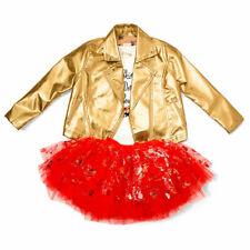 Disney Tutu Couture 3 Piece Set Minnie Mouse Gold Jacket Fancy Dress Outfit NEW