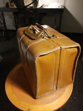 Master Products 8 Slot Catalog Case Top Grain Saddle Leather Bag Brown Vintage