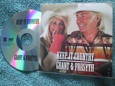 Grant & Forsyth Keep It Country L S  Records Righttrack  UK Promo CD Single