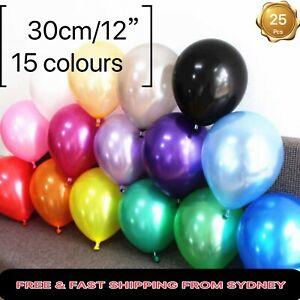10X25X50X100X 16Color 30cm Latex Pearl Helium Balloon Party Air Wedding Birthday