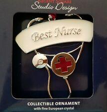 Nib Regent Square European Crystal Best Nurse Not Dated Christmas Ornament