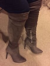Suede Upper Mid Heel (1.5-3 in.) Stiletto Boots for Women