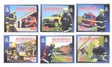 Alderney-Fire Service -Fire negines mnh set of 6