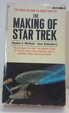 THE MAKING OF STAR TREK-Whitfield, Gene Roddenberry-How to write for TV! RARE!
