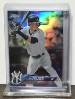 2018 CLINT FRAZIER YANKEES TOPPS CHROME REFRACTOR ROOKIE #148 RC