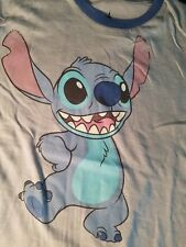 Disney Parks Stitch T-Shirt Light Blue w/Blue Trim New with Tags Size L Youth