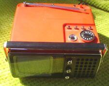 CROWN JAPANESE TELEVISION / RADIO 25 X 15 CM AC 115V/ 230V DC 12V AM/FM WORKS TV