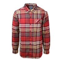 Columbia Men's Weston Pass Red & Beige Plaid L/S Flannel (Retail $60)