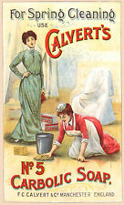 Vintage  Advertising poster  A4 Photo RE PRINT Calverts Carbolic Soap