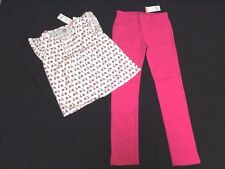 NWT Gymboree Girls Size 12 Ciao Puppy Set Scooter Shirt Top Hot Pink Ponte Pants