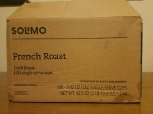 100 count Solimo Dark French Roast Coffee Cups Pods * NEW Exp 7/2022