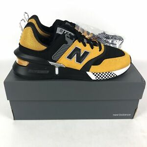 New Balance 997 Sport Taxi Casual Shoes Mens Size 8.5 Black/Yellow MS997JY