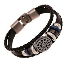 fashion cool Handmade Leather Weaving retro Belt men Bracelets Wristband Bangle