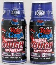 RoboCough Cough Suppressant Max Strength Shots FDA OTC Compliant 2 Bottles Robo