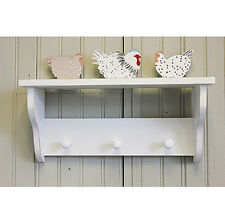 COUNTRY SHABBY CHIC -  PEGS & SHELF FLOCK OF HENS CHICKENS - NEW