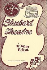 """Kathleen Nolan """"LOVE IN E-FLAT"""" Hal Buckley 1967 FLOP New Haven Tryout Playbill"""