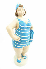 Figur dicke mollige Frau Baddeko Frauenfigur RETRO Badepuppe