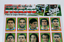 Panini COPA AMERICA VENEZUELA 2007 - TEAM MEXICO 123-142 EXTRA UPDATE STICKERS