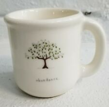 "Beth Mueller Ceramic MUG 4"" tall Cup Abundance Tree Signed Dated 2016"