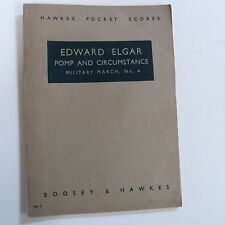 mini pocket score ELGAR pomp and circumstance, military march no 4, Hawkes