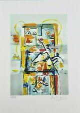 IBRAHIM KODRA (1918-2006) ARTISTA stupenda Litografia Opera Grafica Firmata Rara