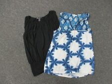 KENNETH COLE AKEMI +KIN Black Blue White Lot Of 2 Sleeveless Tops Sz XS EE5585