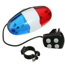 Bicycle Bell 6 Flashing LED 4 Sounds Police Loud Siren Trumpet Light Horn B F4M2
