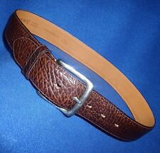 """ITALIAN MADE 30"""" BANANA REPUBLIC BROWN  LEATHER MENS BELT ANTIQUE SILVER BUCKLE"""