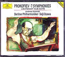 Seiji OZAWA: PROKOFIEV Symphony No.1-7 Lieutenant Kije 4CD Andreas Schmidt BPO