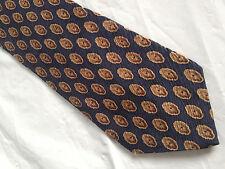 Mens Blue Brown SILK Tie Necktie VAN HEUSEN ~ FREE US SHIP (8204)